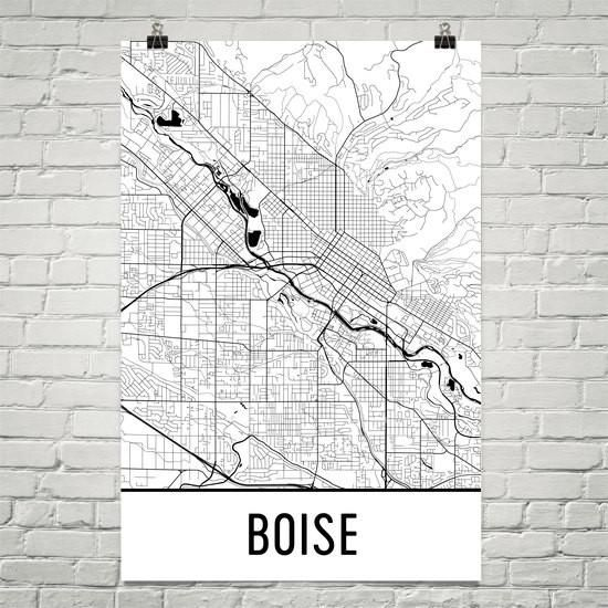 Boise Idaho Street Map Poster Products