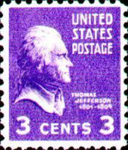 Stamp Thomas Jefferson United States Of America Presidential Issue MiUS 372