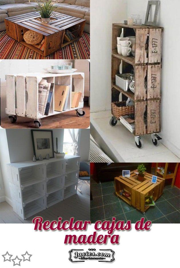 Reciclar cajas de madera | cajasssss | Pinterest | Reciclar cajas de ...