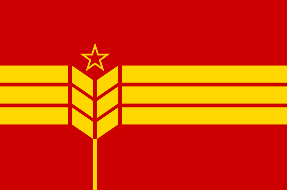 A Communist Flag With A Wheat Grain And A Red Star Vexillology Historical Flags Flag Art Unique Flags