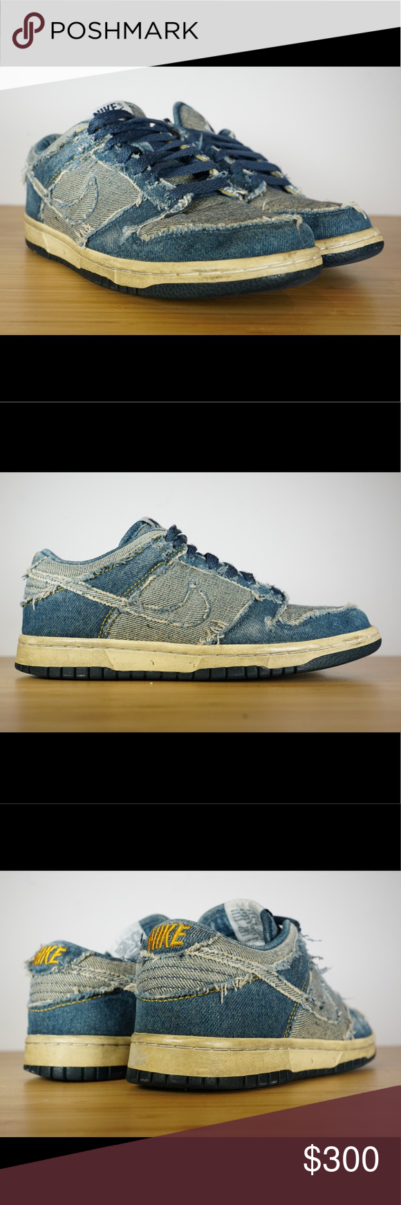 buy popular c1a2c 67446 Nike DS 2006 Dunk Low CL DENIM Size 5 304714-441 Nike DS 2006 Dunk Low CL  DENIM Size 5 Vintage 304714-441 Supreme Medicom Clot Forbes Pre-Owned with  no Box ...