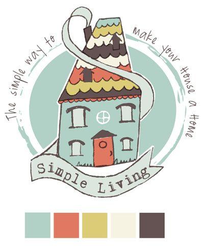 Simple Living - cute Logo
