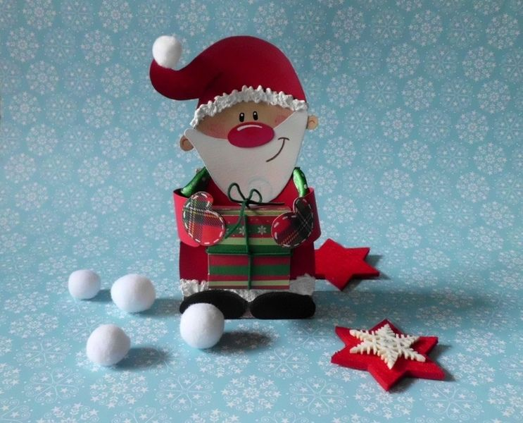 geschenkverpackung weihnachtsmann von frau knuffig auf. Black Bedroom Furniture Sets. Home Design Ideas