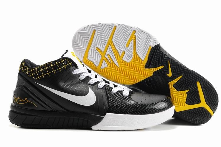 Ken Griffey Shoes Nike Zoom Kobe 4 Black White Del Sol [Nike Zoom Kobe 4 -  Terrific Nike Zoom Kobe 4 Black White Del Sol kicks with the sockliner made  of ...