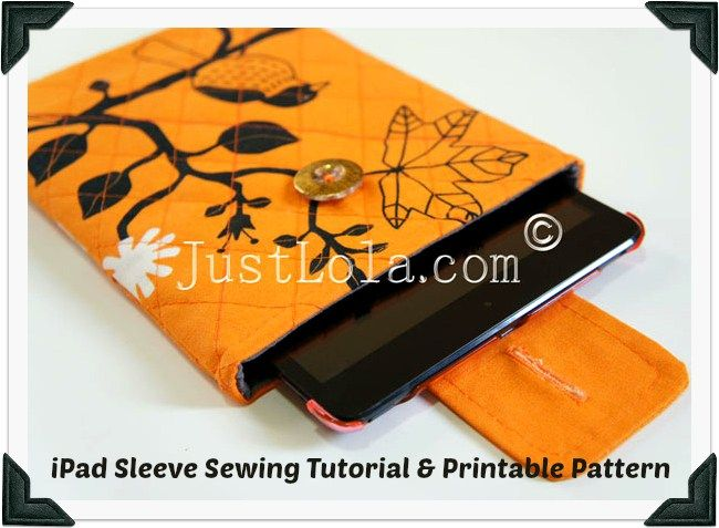 Sew a Quilted Sleeve for your iPad Mini! - Free Pattern + Tutorial