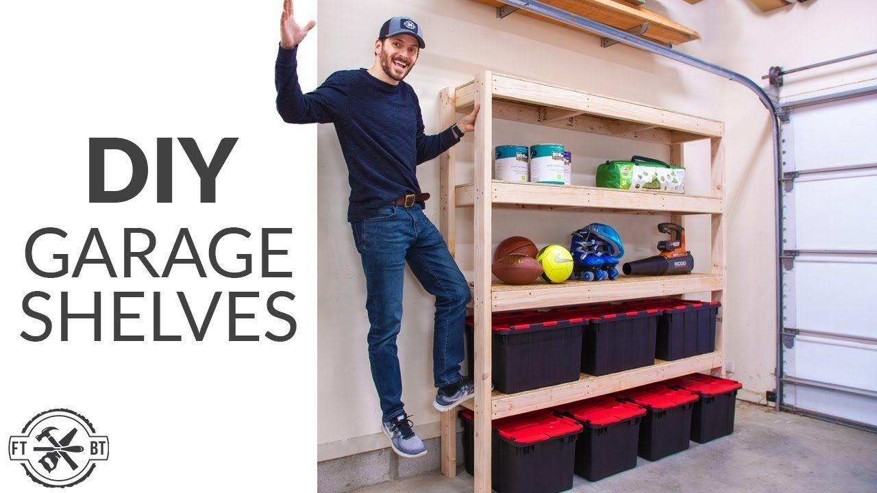Super Efficient 2x4 Garage Shelves DIY Garage Storage