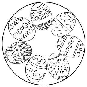 Ostereier-Mandala Ausmalbild