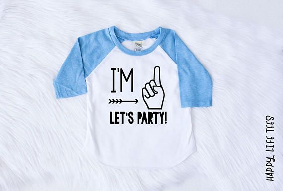 bb4cb18878b Im One Im One Lets Party Im One Shirt First Birthday Boy