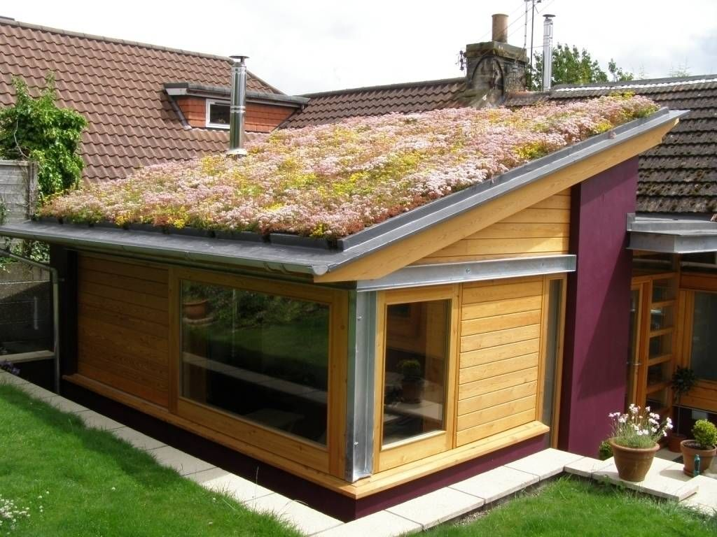 Domestic 1 Green Roof System Green Roof Garden House Exterior