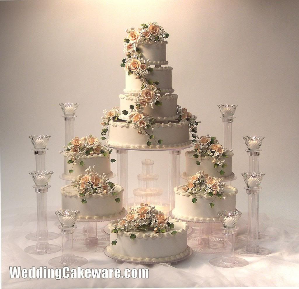 cascading wedding cake stands 9 tier cascading wedding cake stand stands set 2491