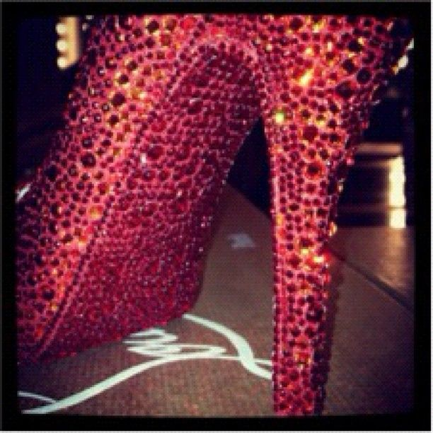 """""""You've seen the Red Sole, but have you seen a Red Strass Sole?"""" - Christian Louboutin"""