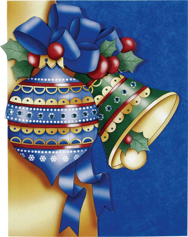 Christmas Bell and Ornament card