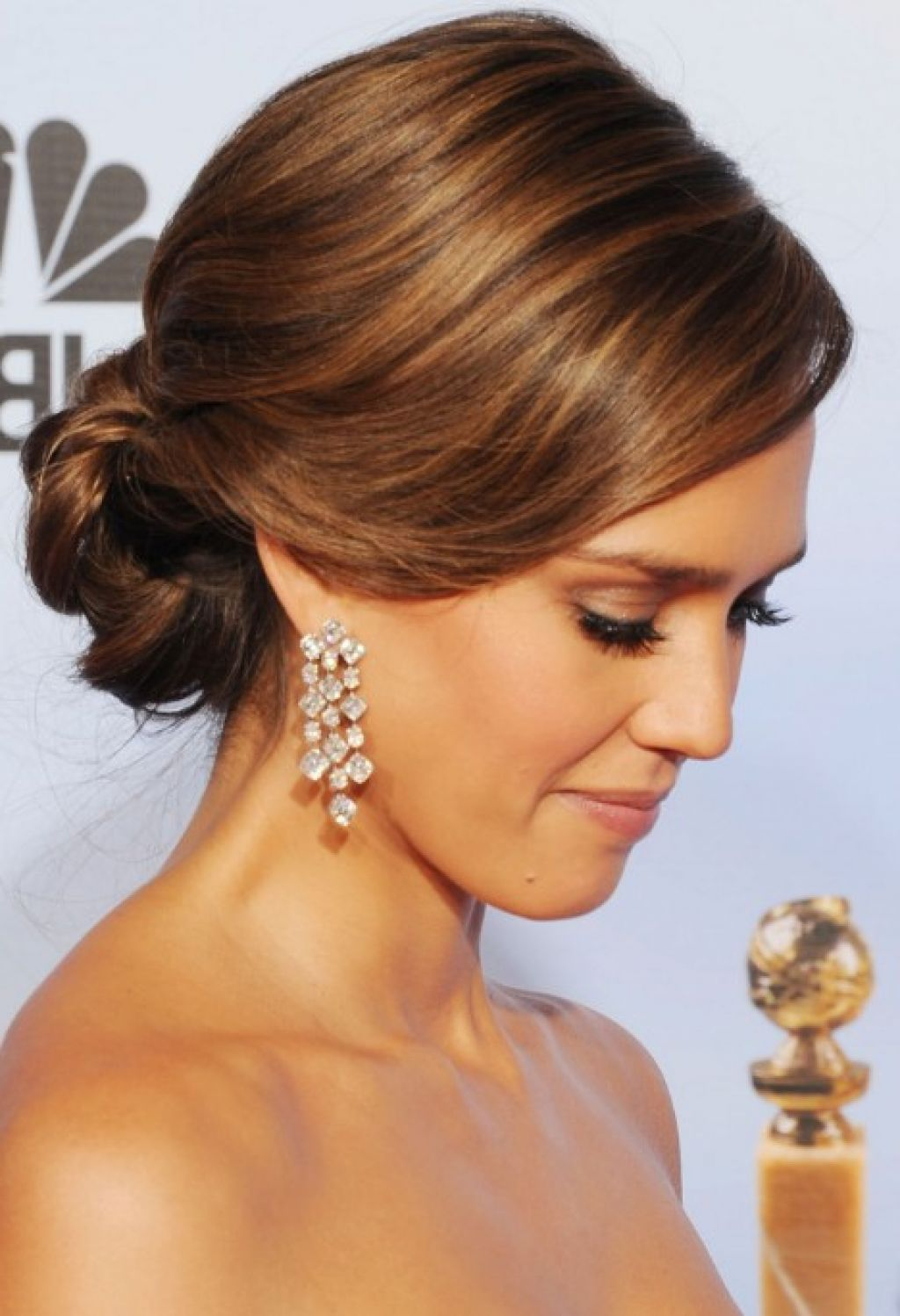 wedding hairstyles ideas side ponytail formal straight low