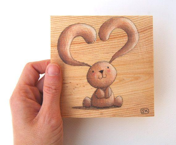 Petit tableau sur bois reciclé Pour la chambre d\u0027enfant Déco