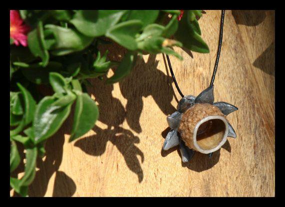 Acorn Natural Pendant Oak Necklace Acorn by EinavGlazerJewelry