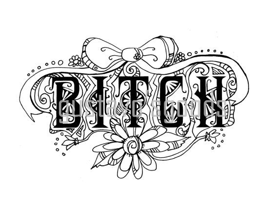 This Swear Word Coloring Book Is A Digital Instant Download Of 4 Curse Pages These Are All Unique And Fun To Color