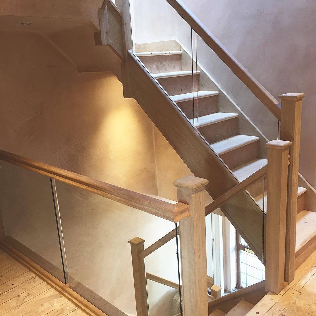 Replacement Ground Floor Stairs And New Loft Staircase All With Oak And  Glass Balustrade