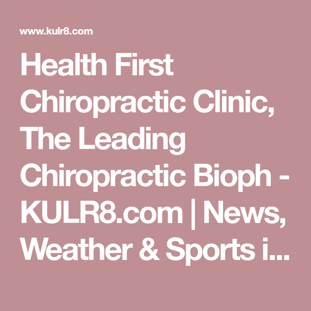 Health First Chiropractic Clinic, The Leading Chiropractic