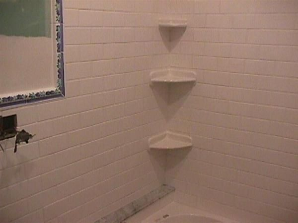 Installing A Corner Shower Shelf Ceramic Tile Advice Forums
