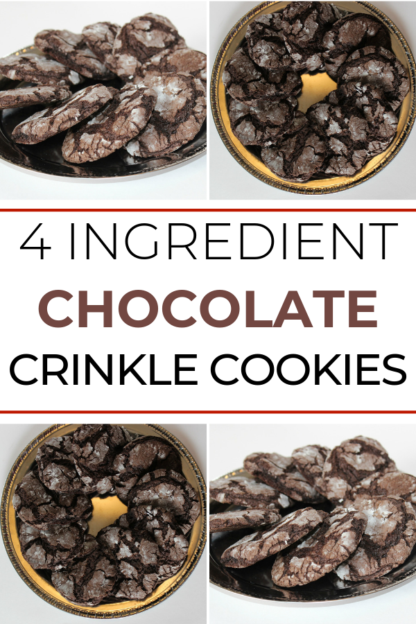 You can make soft and chewy crinkle cookies with just four simple ingredients You start with your favorite cake mix and from there it just gets easier These are a great c...