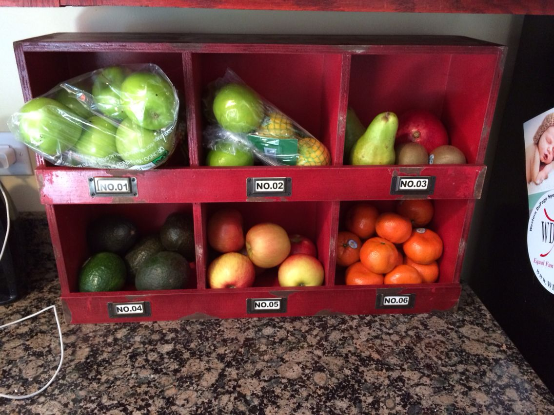 Hobby Lobby Hanging Storage Shelf Used On Countertop For Fruit