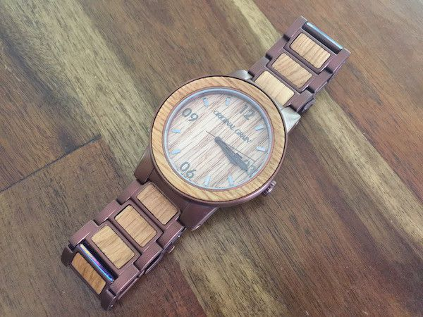 wood steel espresso watches whiskey pin barrel