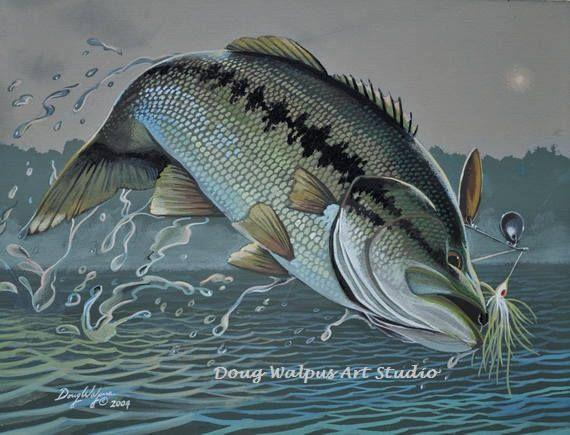 Bass Fishing Home Decor