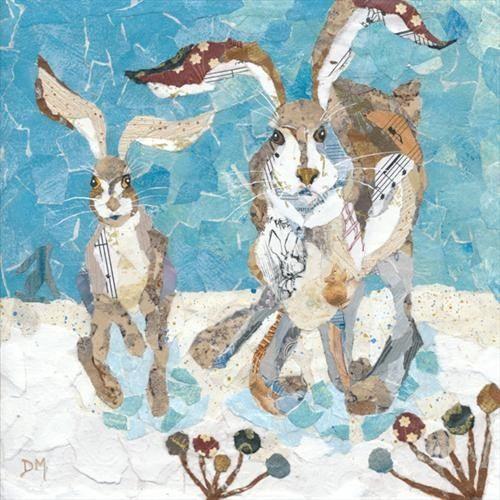 Snow Run Rabbit Art Dawn Maciocia Pinterest