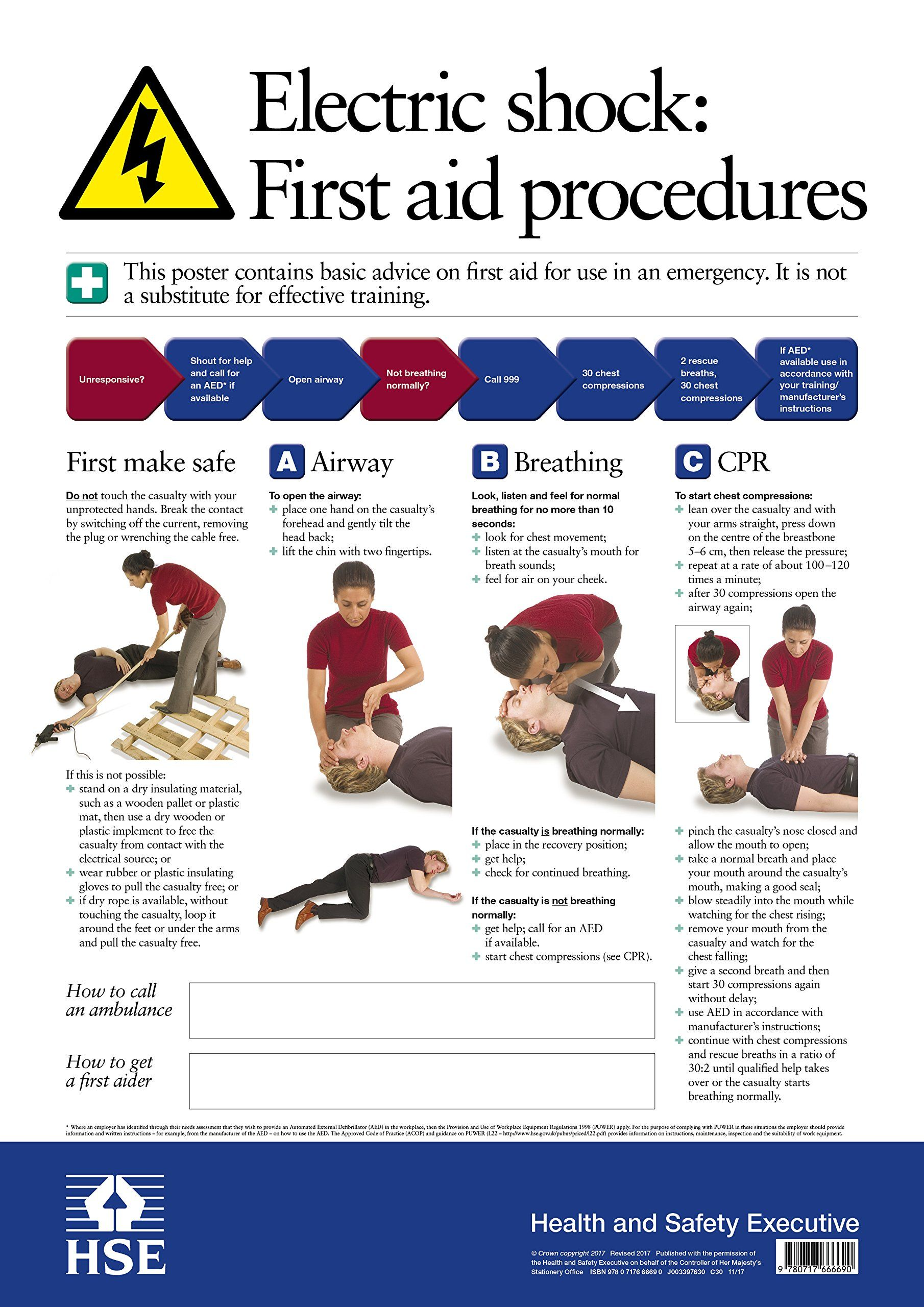 this health and safety poster gives basic advice on first aidthis health and safety poster gives basic advice on first aid procedures if someone has