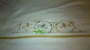 Resultado de imagen para pinterest sabanas para bebes  bordadas en punto de  cruz   y con tiras bordadas en la orilla