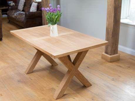 Provence 150cm Cross Leg European Oiled Oak Dining Table