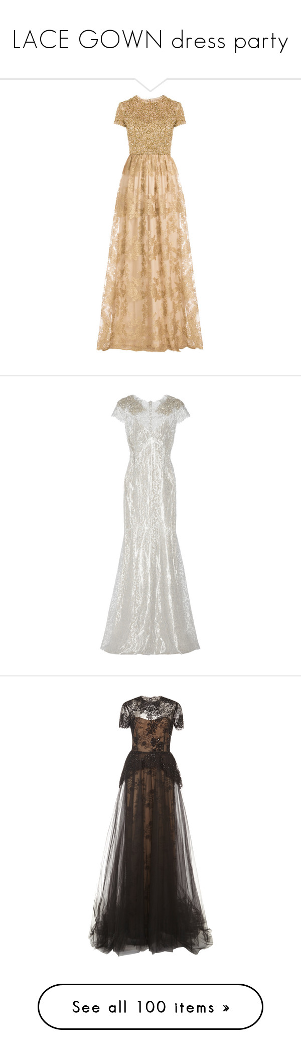 Lace gown dress party