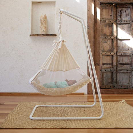 Medium image of amby air baby hammock   free standing baby hammock