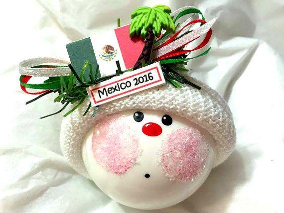 Christmas Vacation In Mexico.Mexico Souvenir Gift Ornament Christmas Vacation Mexican