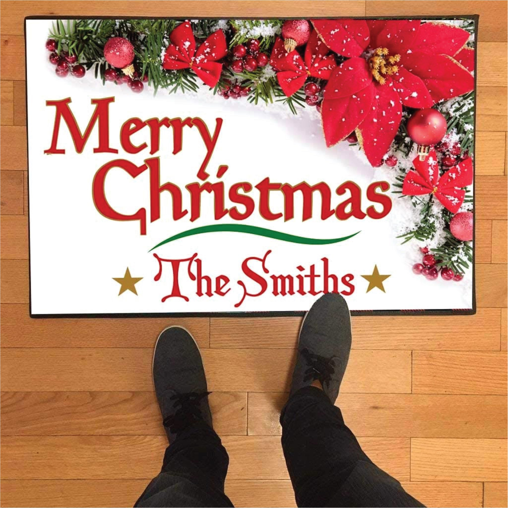 Merry Christmas Doormat 24 Inches by 36 Inches, Custom Christmas Door Mat, Personalized Christmas Themed Doormat #merrychristmas #customdoormat #personalizeddoormat #customentryrug