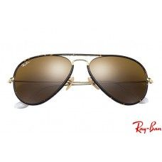 07edfb986 Ray Ban RB3025JM Aviator Full Color with Tortoise; Gold frame and Brown  Classic B-15 lenses