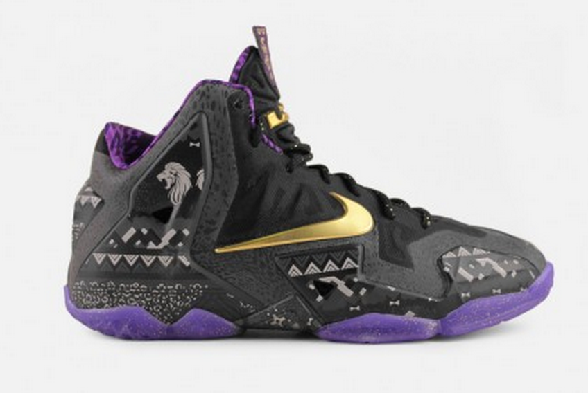 e3382a5627e3 The new Nike Lebron 11 Grade-School (Black Purple) are perfect for boys and  girls on the black top.