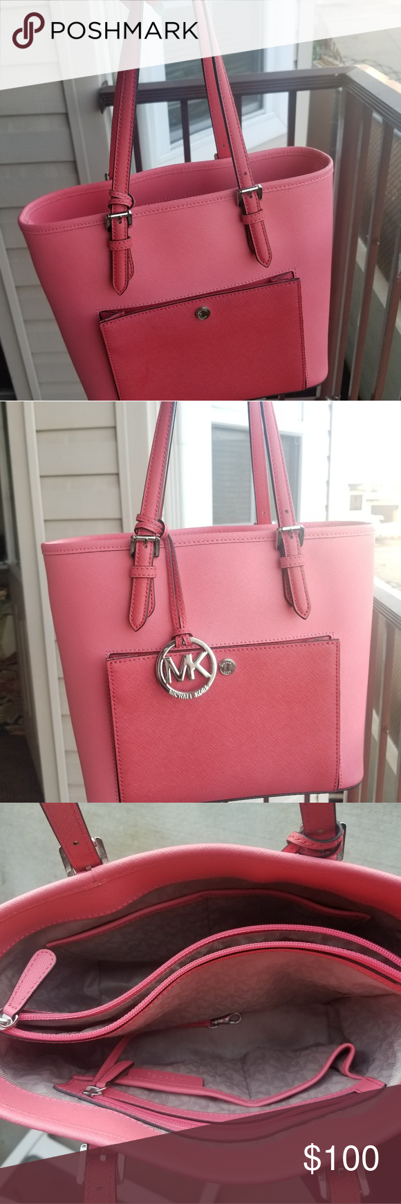 Michael Kors Bag Beautiful coral two toned bag. Front pocket and adjustable stra... -  Michael Kors Bag Beautiful coral two toned bag. Front pocket and adjustable straps   Excellent cond - #adjustable #AlexaChung #AngelaSimmons #Bag #Beautiful #CannesFilmFestival #CelebritiesFashion #CelebrityStyle #coral #CurvyPetiteFashion #DianeKruger #EmmaRoberts #FashionDesigners #FashionTrends #Front #KendallJennerOutfits #KimKardashian #Kors #LouisVuitton #LouisVuittonHandbags #LouisVuittonMonogram #LvHa