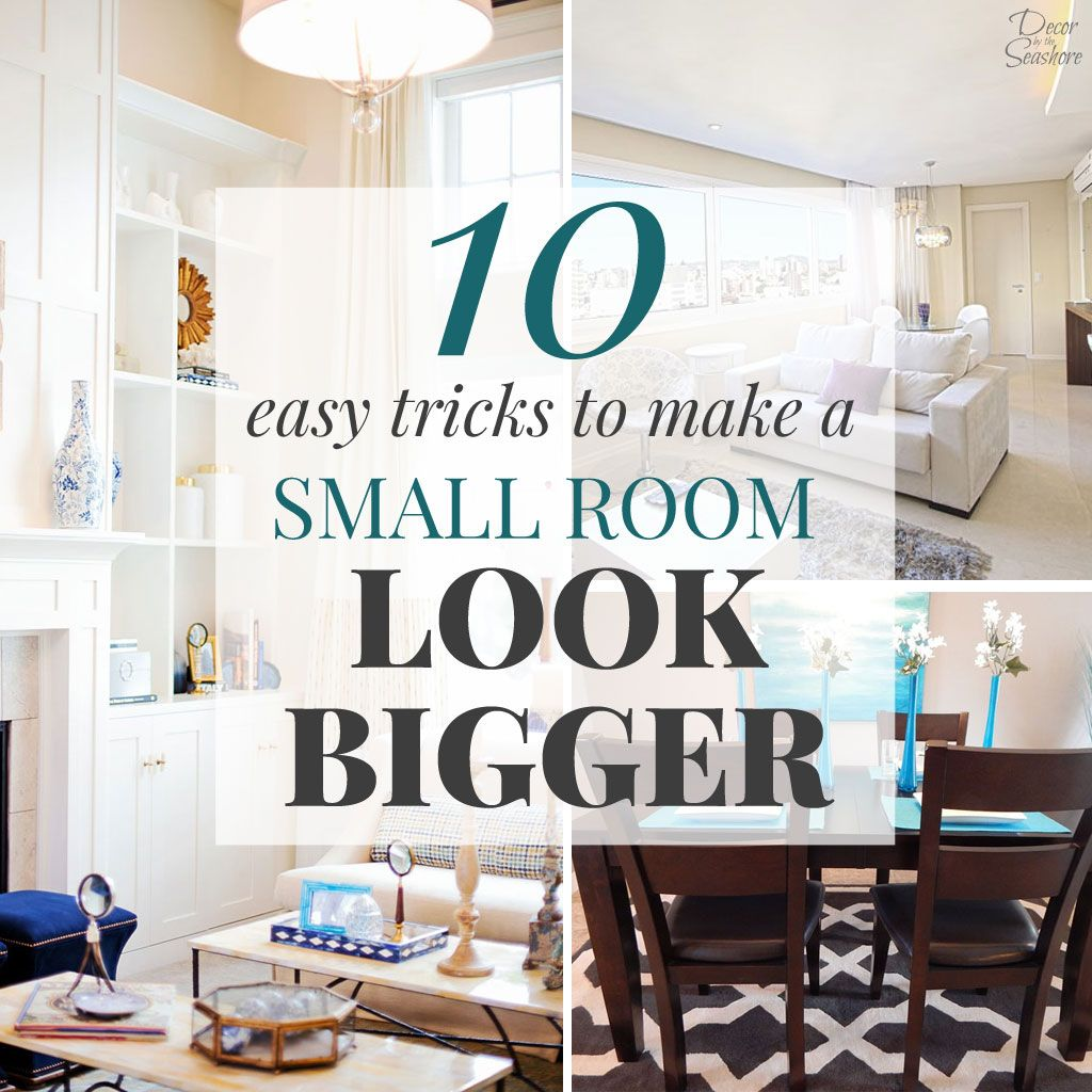 make living room spacious using simple and smart tricks the interior design company Wondering how to make a small room look bigger? These easy tricks will help  you transform your small rooms and make them look larger and more spacious!