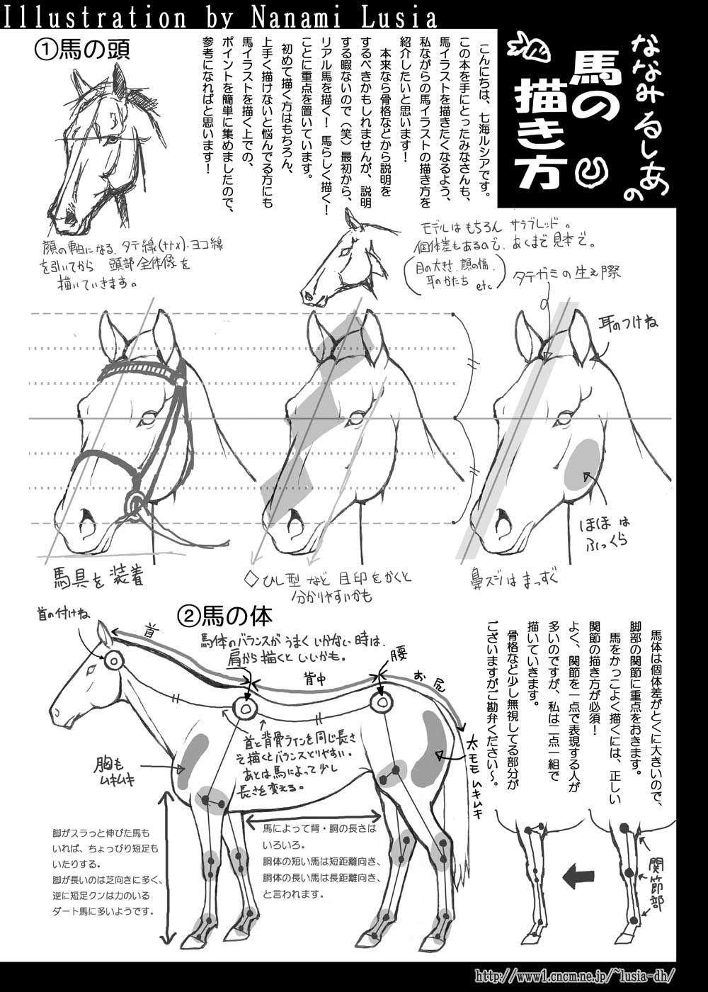 馬の描き方その1a簡易版 | horse upkeep | pinterest | drawings