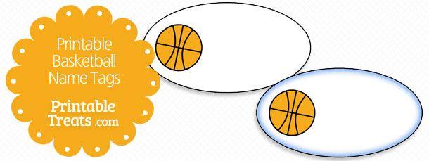 Printable Basketball Name Tags Name Tags Basketball Printables