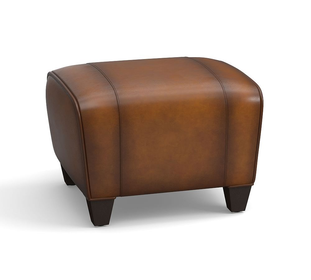 Manhattan Leather Ottoman Polyester Wrapped Cushions