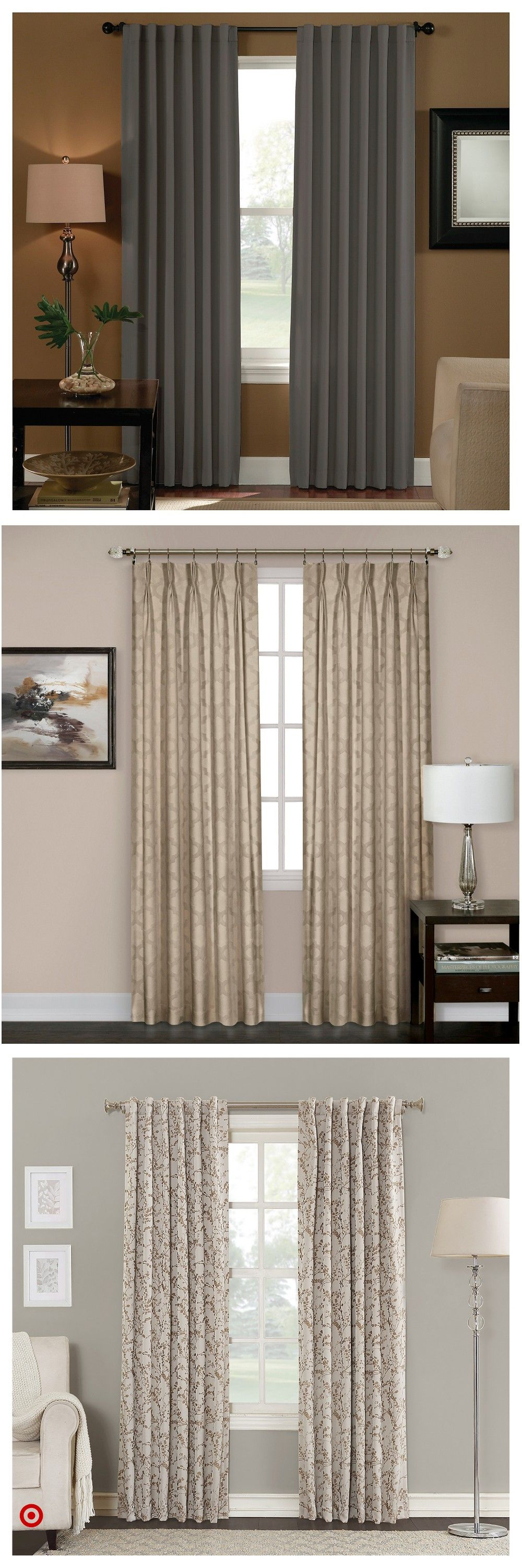 Shop Target For Pinch Pleat Back Tab You Will Love At Great Low Prices Living Room Decor Curtains Curtains Living Room Rustic Drapes Curtains Living Room