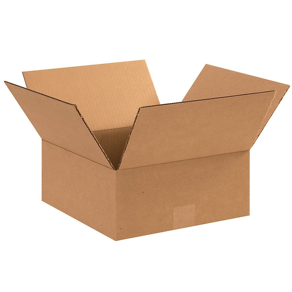 Office Depot Brand Flat Boxes 12 X 12 X 5 Kraft Pack Of 25