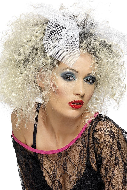 Wig Wild Child Madonna 80s Ladies Fancy Dress 1980s Celebrity Eighties Costume