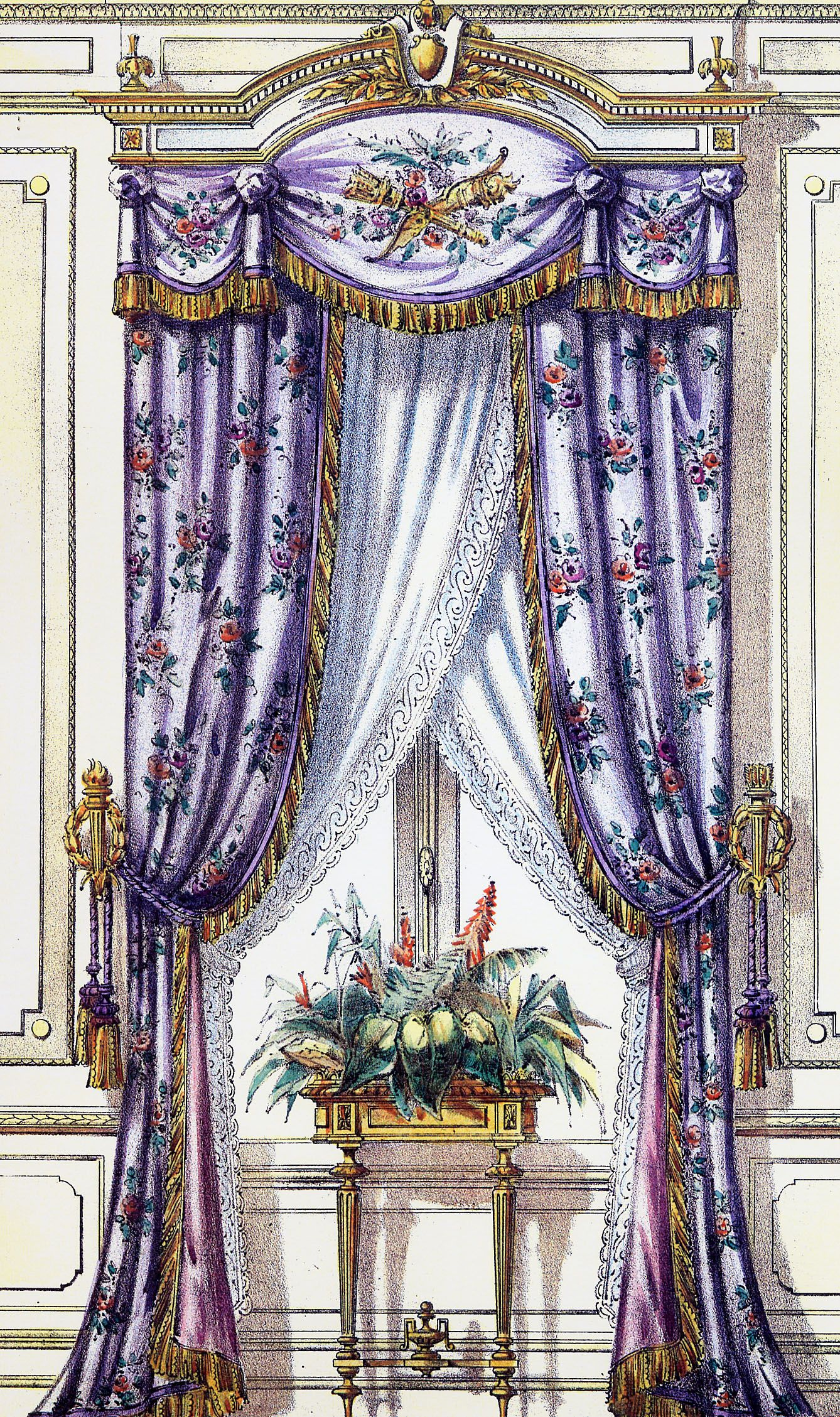 french curtains elham zaid. Black Bedroom Furniture Sets. Home Design Ideas