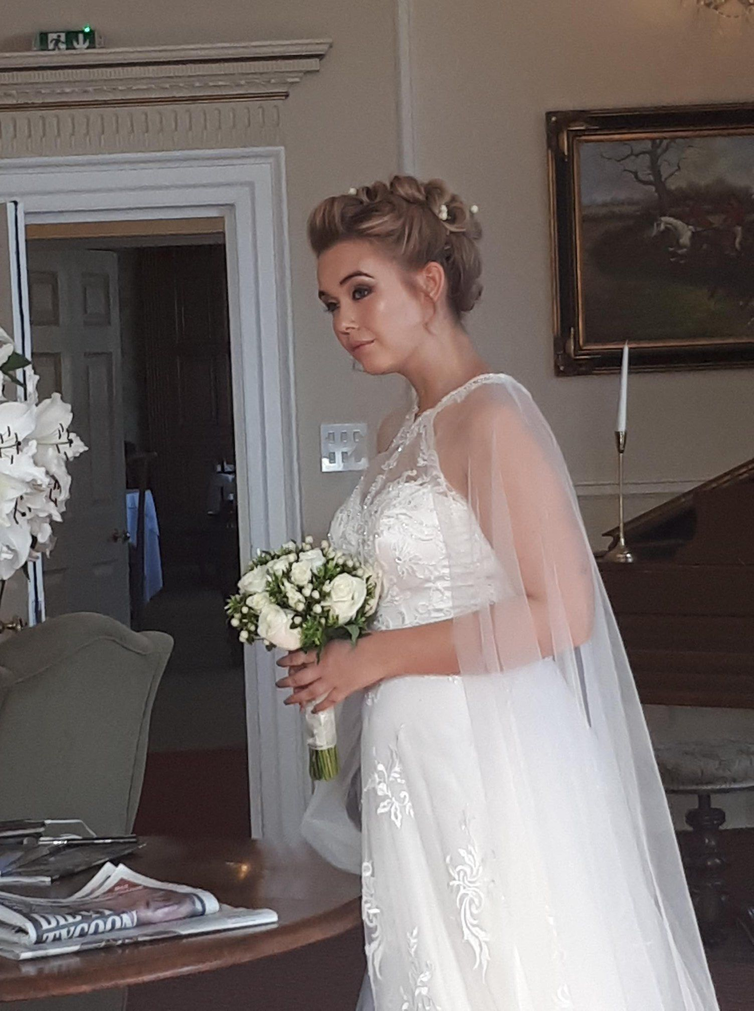 one of our beautiful winter leeds brides hair & makeup