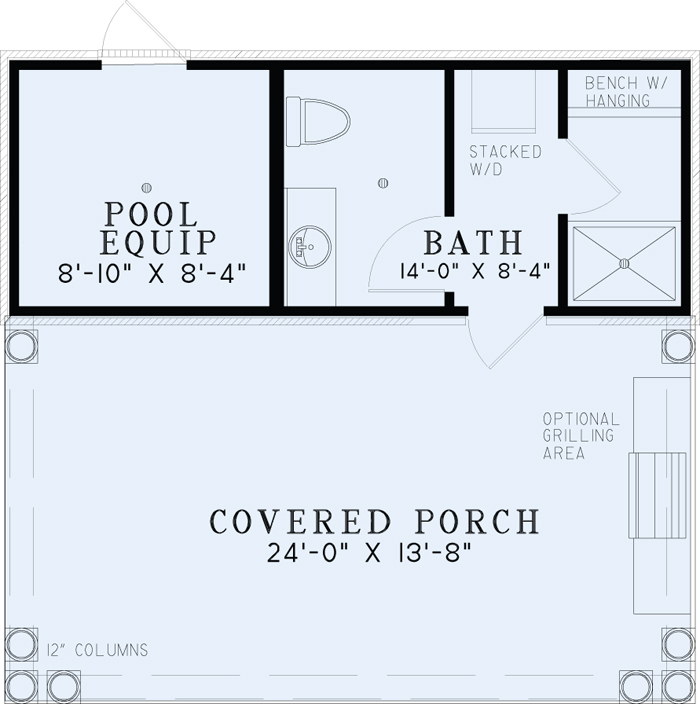 Nice [ Poolhouse Plan With Bathroom House Plans Pool Outdoor Kitchen Arts ]    Best Free Home Design Idea U0026 Inspiration