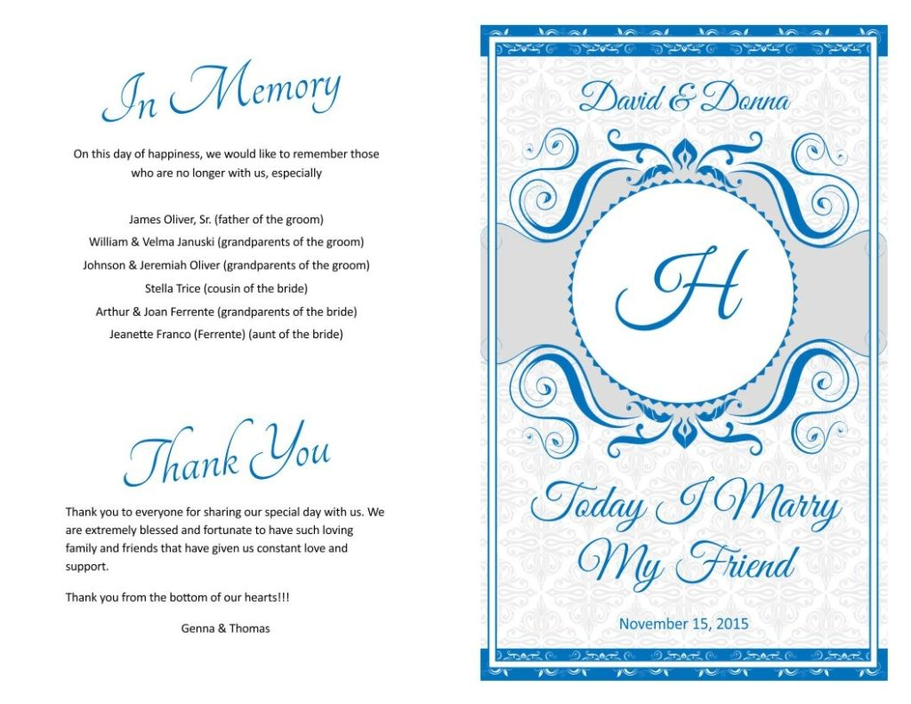 Wedding Program Cover Designs Programs Fast Template 1 With