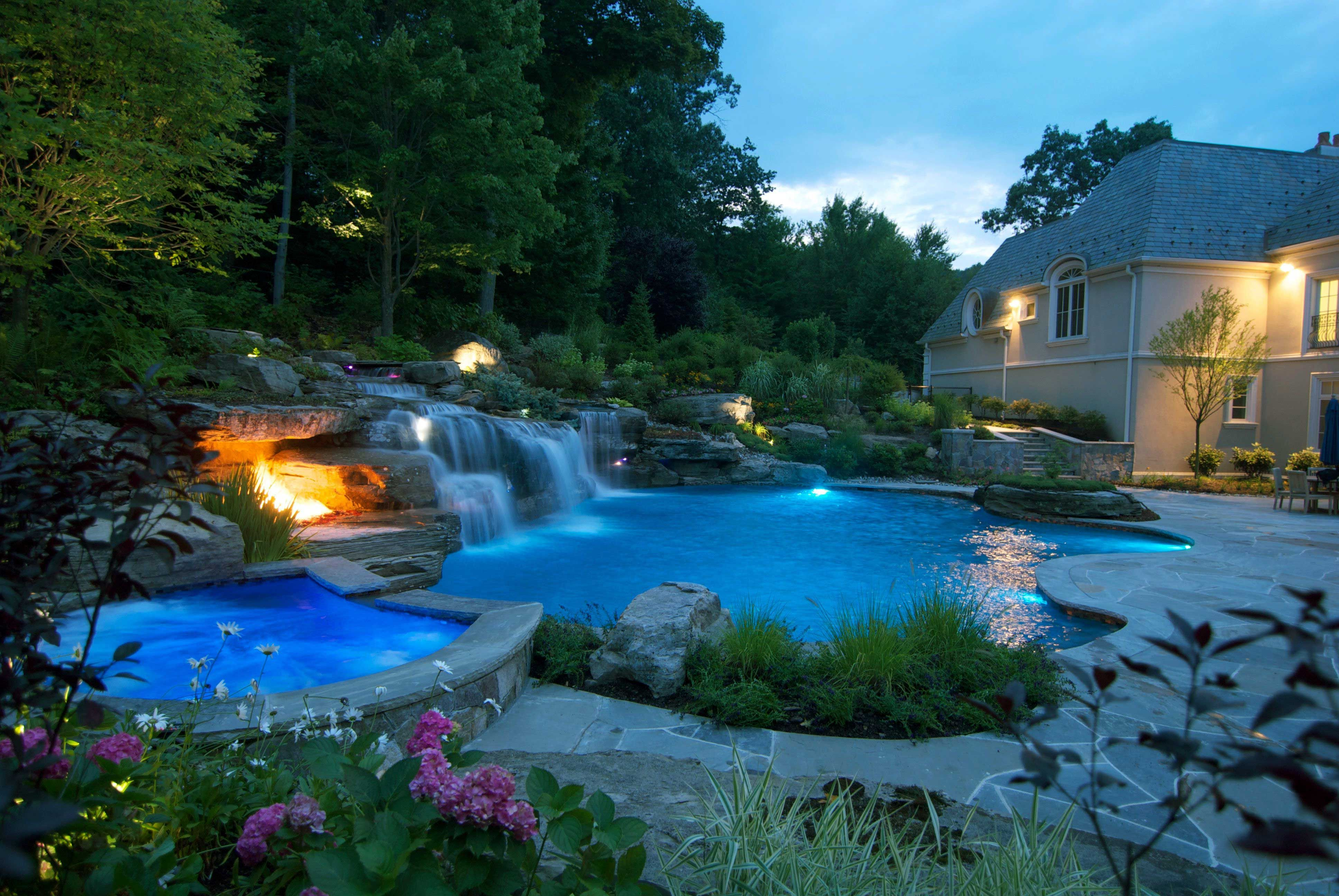 64 Gorgeous Large Backyard Landscaping Ideas To Amaze Your Guest Small Pool Design Backyard Pool Backyard Pool Landscaping